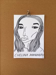 Badly Drawn Chelina Manuhutu - Original Drawing - A3.