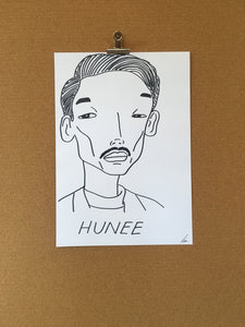 Badly Drawn Hunee - Original Drawing - A3.