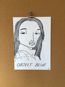 Badly Drawn Object Blue - Original Drawing - A3.