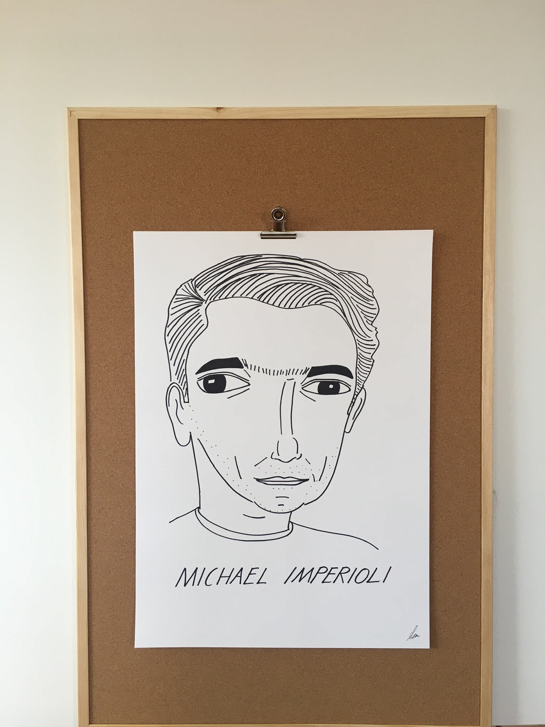 Badly Drawn Michael Imperioli - Original Drawing - A2.