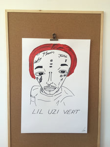 Badly Drawn Lil Uzi Vert - Original Drawing - A2.
