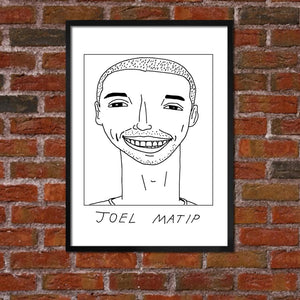 Badly Drawn Joel Matip - Liverpool F.C. Premier League Champions - Poster