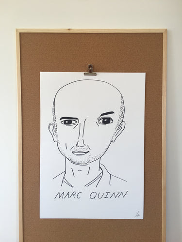 Badly Drawn Marc Quinn - Original Drawing - A2.