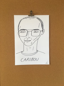 Badly Drawn Caribou - Original Drawing - A3.