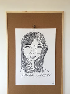 Badly Drawn Avalon Emerson - Original Drawing - A2.
