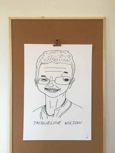 Badly Drawn Jacqueline Wilson - Original Drawing - A2.