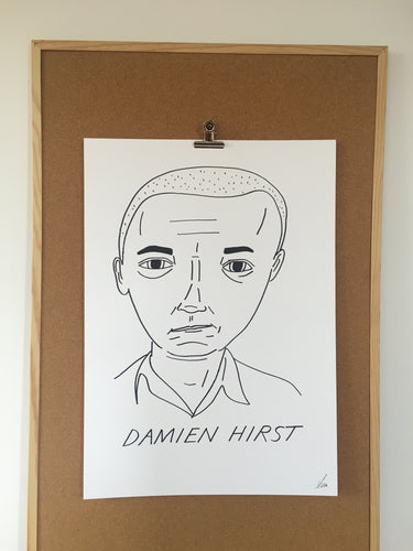 Badly Drawn Damien Hirst - Original Drawing - A2.