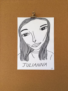 Badly Drawn Julianna - Original Drawing - A3.