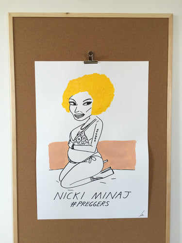 Badly Drawn Nicki Minaj - Original Drawing - A2.