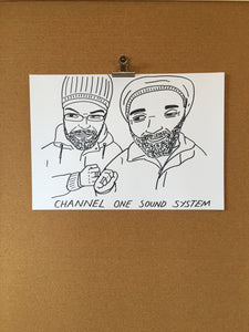 Badly Drawn Channel One Soundsystem - Original Drawing - A3.