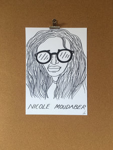 Badly Drawn Nicole Moudaber - Original Drawing - A3.