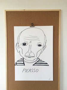 Badly Drawn Picasso - Original Drawing - A2 (420mm X 594mm)