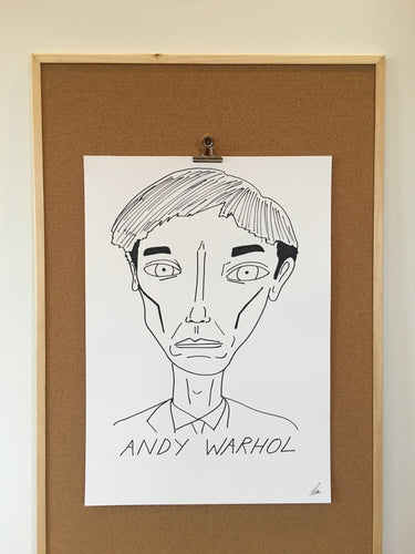 Badly Drawn Andy Warhol - Original Drawing - A2.