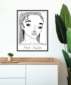 Badly Drawn FKA Twigs - Poster - BUY 2 GET 3RD FREE ON ALL PRINTS
