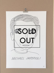 SOLD OUT - Badly Drawn Michael Imperioli - Original Drawing - A2.
