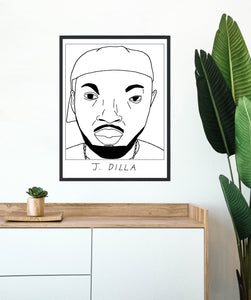 Badly Drawn J. Dilla - Poster - BUY 2 GET 3RD FREE ON ALL PRINTS