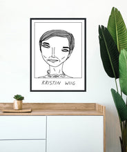 Badly Drawn Kristin Wig - Poster - BUY 2 GET 3RD FREE ON ALL PRINTS