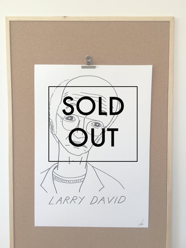 SOLD OUT - Badly Drawn Larry David - Original Drawing - A2.