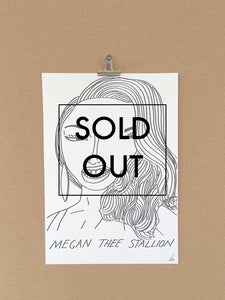 SOLD OUT - Badly Drawn Megan Thee Stallion - Original Drawing - A3.