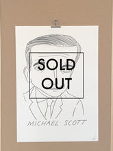 SOLD OUT - Badly Drawn Michael Scott - Original Drawing - A2.