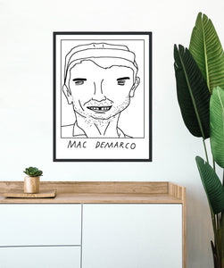 Badly Drawn Mac Demarco  - Poster - BUY 2 GET 3RD FREE ON ALL PRINTS