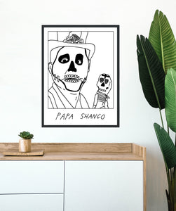 Badly Drawn Papa Shango - Poster - BUY 2 GET 3RD FREE ON ALL PRINTS