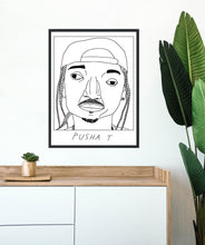 Badly Drawn Pusha T - Poster - BUY 2 GET 3RD FREE ON ALL PRINTS