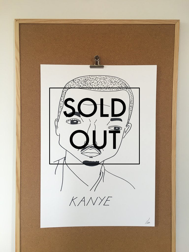 SOLD OUT - Badly Drawn Kanye West - Original Drawing - A2.