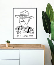 Badly Drawn Sgt Slaughter - Poster - BUY 2 GET 3RD FREE ON ALL PRINTS
