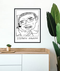 Badly Drawn Stephen Hawking - Poster - BUY 2 GET 3RD FREE ON ALL PRINTS