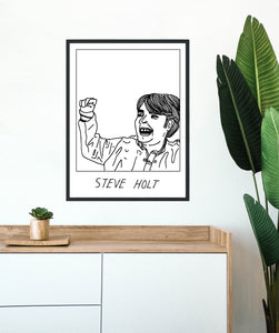 Badly Drawn Steve Holt - Poster - BUY 2 GET 3RD FREE ON ALL PRINTS