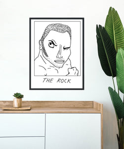 Badly Drawn The Rock - Poster - BUY 2 GET 3RD FREE ON ALL PRINTS