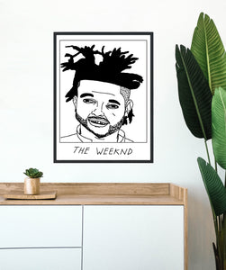 Badly Drawn The Weeknd - Poster - BUY 2 GET 3RD FREE ON ALL PRINTS