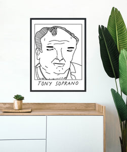 Badly Drawn Tony Soprano - Poster - BUY 2 GET 3RD FREE ON ALL PRINTS