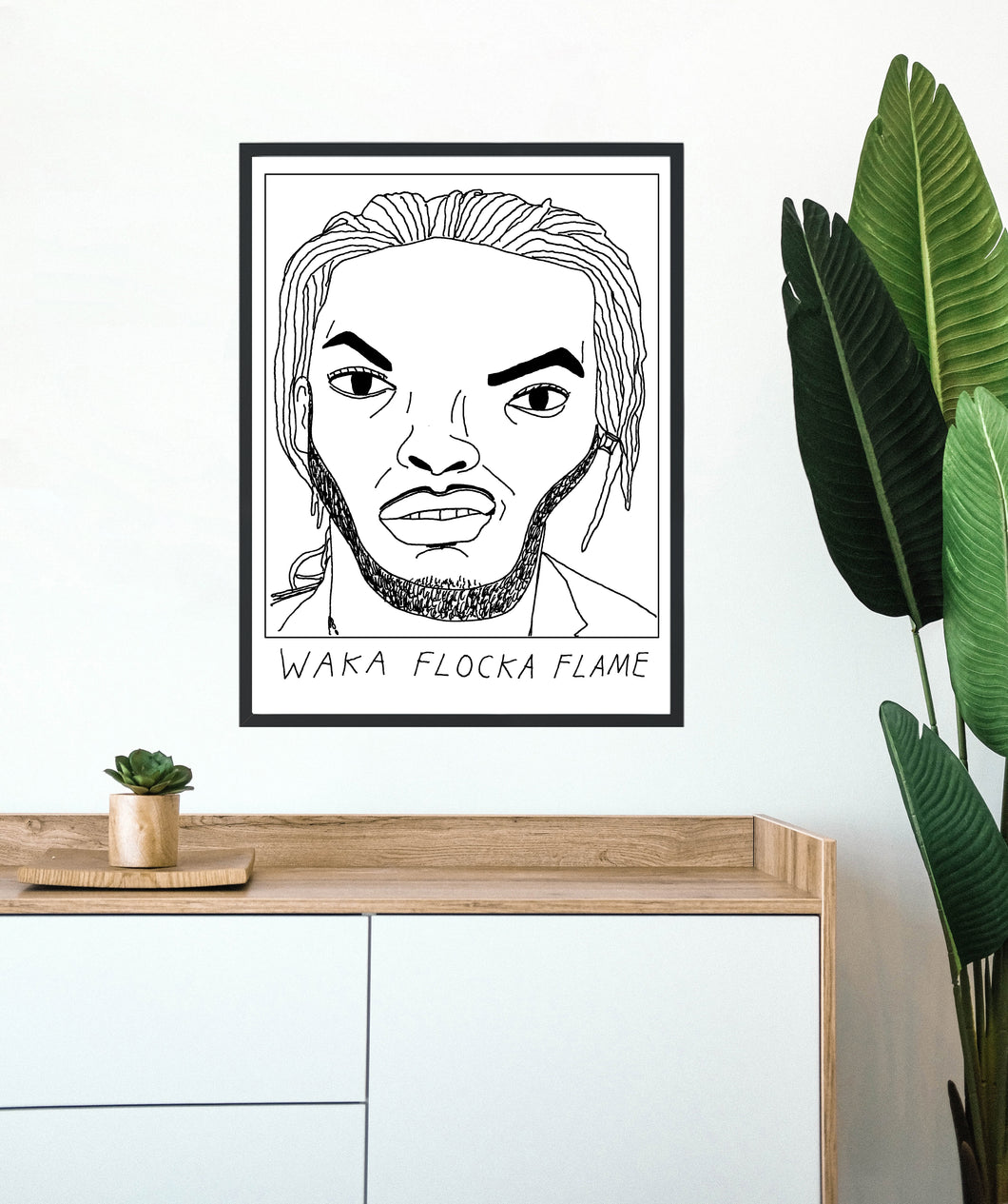 Badly Drawn Waka Flocka Flame - Poster - BUY 2 GET 3RD FREE ON ALL PRINTS