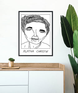 Badly Drawn Agatha Christie - Poster - BUY 2 GET 3RD FREE ON ALL PRINTS