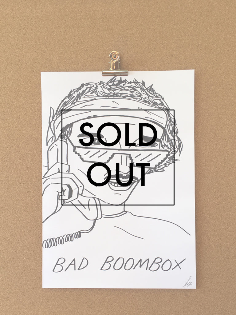 SOLD - Badly Drawn Bad Boombox - Original Drawing - A3.