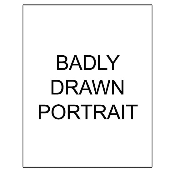 Custom Badly Drawn Portrait