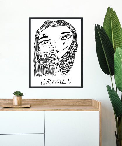 Badly Drawn Grimes - Poster - BUY 2 GET 3RD FREE ON ALL PRINTS