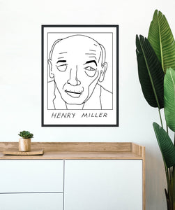 Badly Drawn Henry Miller - Poster - BUY 2 GET 3RD FREE ON ALL PRINTS
