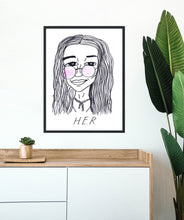 Badly Drawn Celebs - H.E.R. - Poster - Grammys 2021 (Limited Edition - Signed and Numbered)