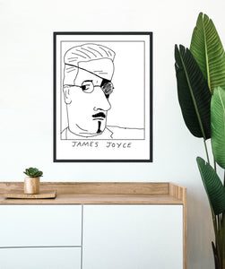 Badly Drawn James Joyce -  Poster - BUY 2 GET 3RD FREE ON ALL PRINTS