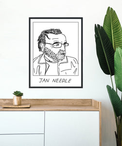 Badly Drawn Jan Needle  -  Poster - BUY 2 GET 3RD FREE ON ALL PRINTS