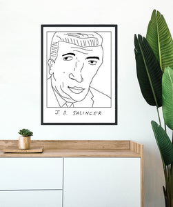 Badly Drawn J. D. Salinger -  Poster - BUY 2 GET 3RD FREE ON ALL PRINTS