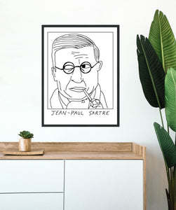 Badly Drawn Paul Sartre  - Poster - BUY 2 GET 3RD FREE ON ALL PRINTS