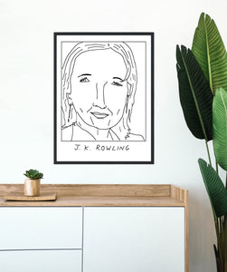 Badly Drawn  J. K. Rowling  -  Poster - BUY 2 GET 3RD FREE ON ALL PRINTS