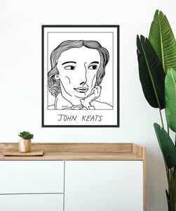 Badly Drawn  John Keats  Poster - BUY 2 GET 3RD FREE ON ALL PRINTS