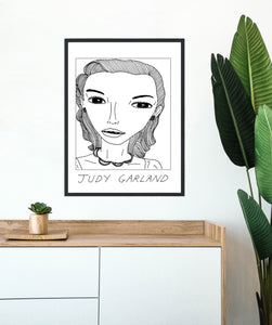 Badly Drawn Celebs - Judy Garland - Poster - BUY 2 GET 3RD FREE ON ALL PRINTS