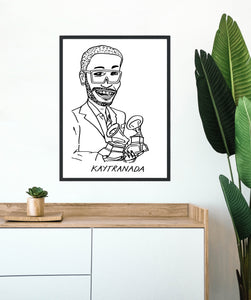 Badly Drawn Celebs - Kaytranada - Poster - Grammys 2021 (Limited Edition - Signed and Numbered)