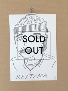 Badly Drawn Kettama - Original Drawing - A3.